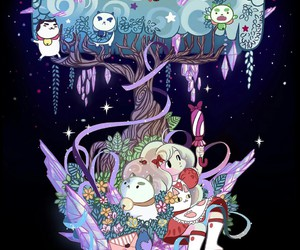 cute and bee and puppycat image