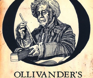 harry potter, wand, and ollivander's image