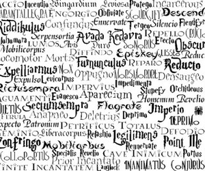 harry potter, magic, and spells image