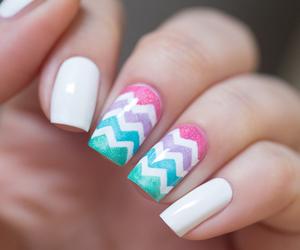 amazing, nails, and chevron image