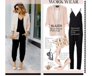 blazer, chic, and office image