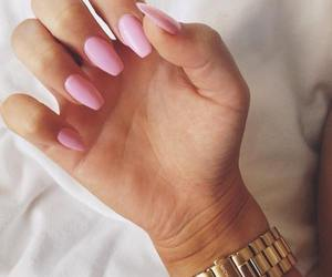 nails, pink, and watch image