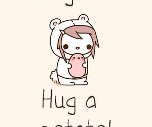 potato, hug, and kawaii image