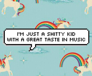 music, unicorn, and kids image