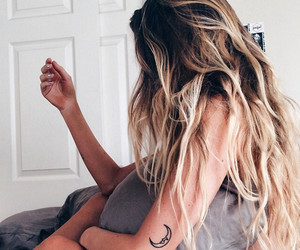 blonde, tattoo, and blonde girl image