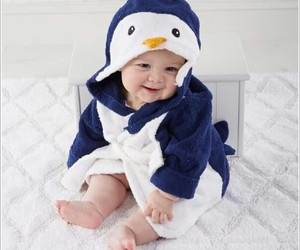 baby, penguin, and kids image