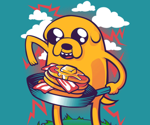 bacon, adventure time, and JAKe image