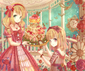 birds, cake, and bow image