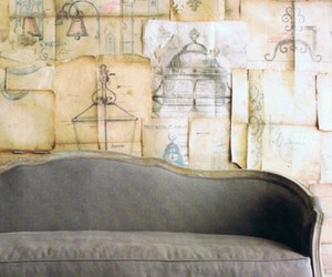 baroque, wallpaper, and couch image