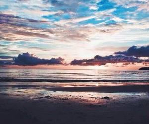 sea, sky, and beach image