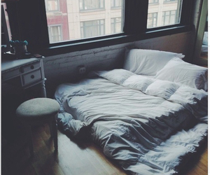 bed, cheer, and couple image