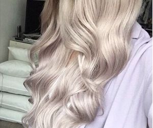 platinum, blonde, and hair image