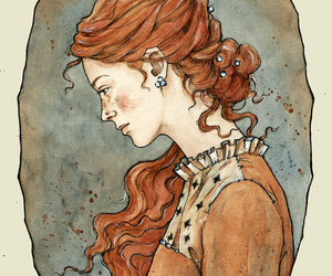red head image