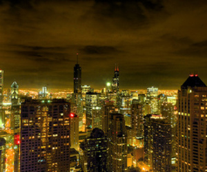 lights, chicago, and city image