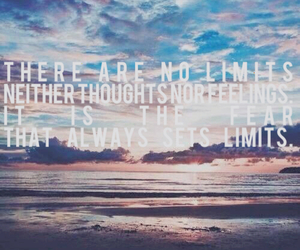 fear, thought, and no limits image