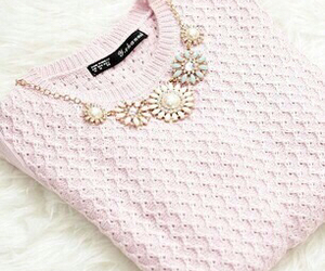 fashion, pink, and sweater image