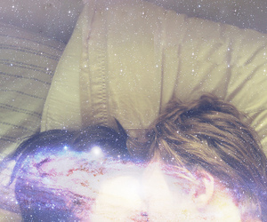 bed, galaxy, and in bed image