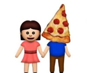 pizza, emoji, and love image