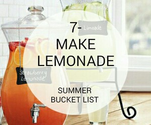 bucket, lemonade, and list image