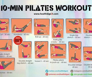 fitness, pilates, and healthy image