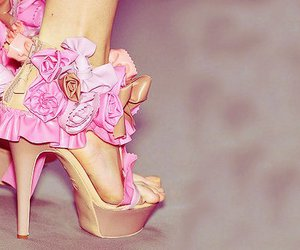 high heels, pastel, and pink image