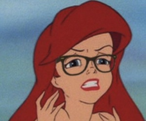 ariel, hipster, and disney image