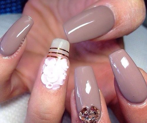 beige and nails image