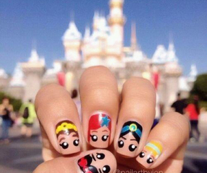 nails, disney, and princess image