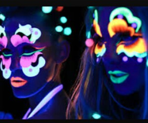 neon, party, and cool image