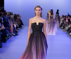 dress, elie saab, and black image