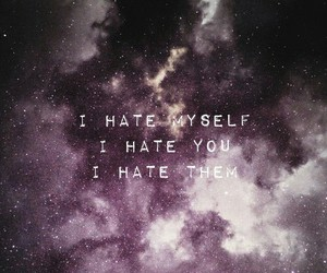 galaxy, hate, and me image