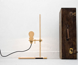 wood and lamp image