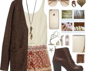 autumn, cardigan, and sunglasses image