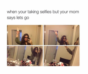 funny, selfie, and mom image