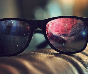 glasses, galaxy, and sunglasses image