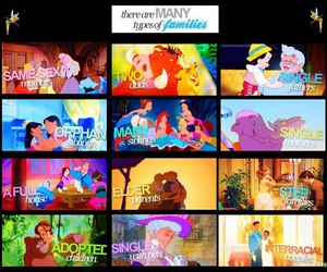family, disney, and love image
