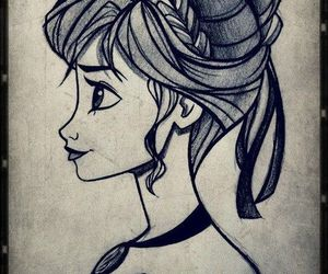 anna, disney, and drawing image