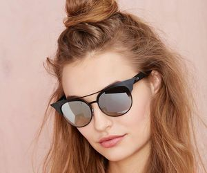 bun, hair, and sunglasses image