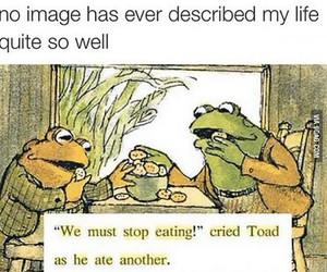 food, funny, and frog image