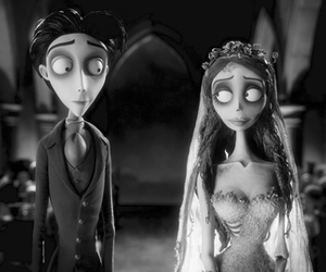 black, corpse bride, and different image
