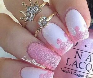 nails, pink, and princess image