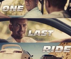 paul walker, Vin Diesel, and one last ride image