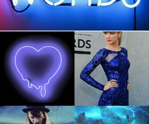 blonde, blue, and Collage image