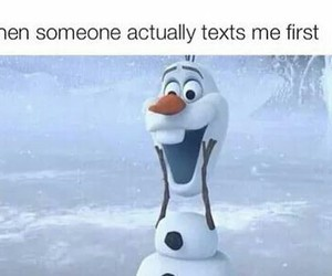frozen, olaf, and text image