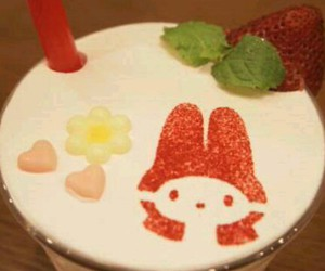 cafe, heart, and strawberry image
