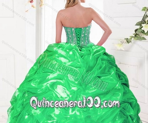 party dress, quince dress elegant, and spring dress image