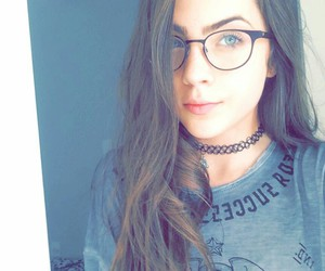 beautiful, glasses, and makeup image