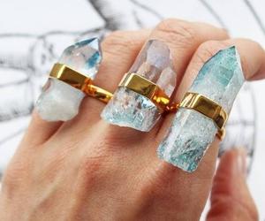 rings, crystal, and vintage image