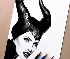 drawing, art, and maleficent image