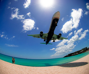 airplanes and beach image